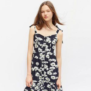 Urban Outfitters Tie-Shoulder Floral Midi Dress